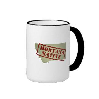 Montana Native Stamped on Map Coffee Mug