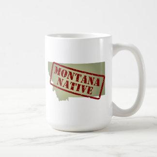 Montana Native Stamped on Map Mug