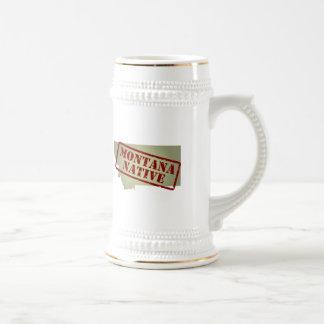 Montana Native Stamped on Map Coffee Mugs