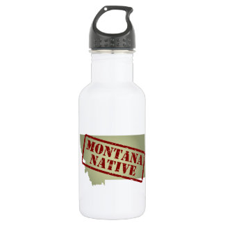 Montana Native Stamped on Map 532 Ml Water Bottle