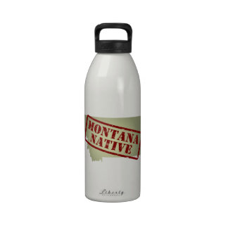 Montana Native Stamped on Map Reusable Water Bottle