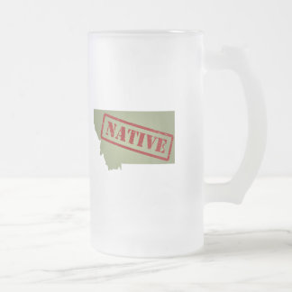 Montana Native with Montana Map Coffee Mugs