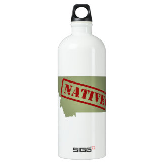 Montana Native with Montana Map SIGG Traveller 1.0L Water Bottle
