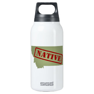 Montana Native with Montana Map 10 Oz Insulated SIGG Thermos Water Bottle
