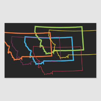 montana pride blur rectangular sticker