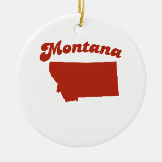 MONTANA Red State Ornament