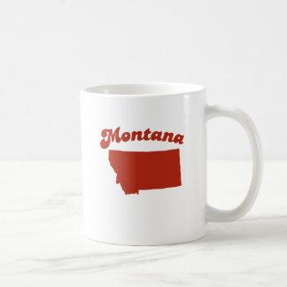 MONTANA Red State Classic White Coffee Mug