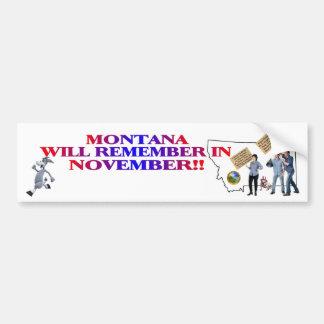 Montana - Return Congress To The People!! Bumper Sticker