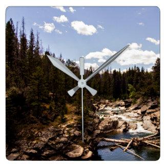 Montana River Scenery Wall Clock