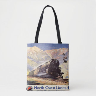 Montana Rockies Locomotive Train railroad Mountain Tote Bag