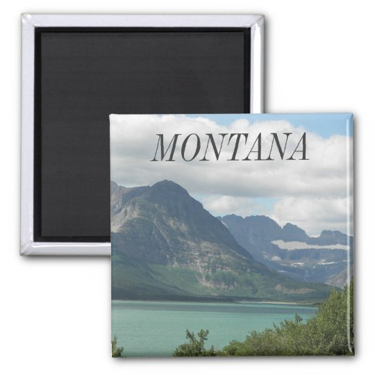 Montana Rockies Travel Photo Square Magnet