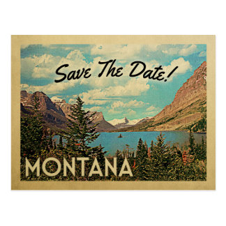 Montana Save The Date Vintage Glacier Park Lake Postcard