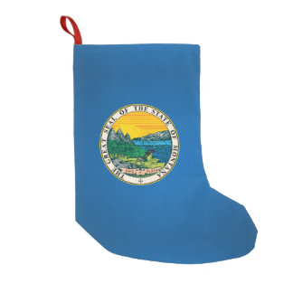 Montana seal, American state seal Small Christmas Stocking
