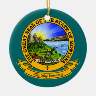 Montana Seal Christmas Ornament