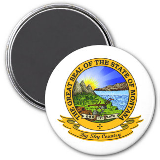 Montana Seal 7.5 Cm Round Magnet
