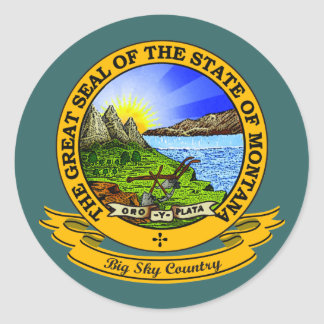 Montana Seal Round Sticker