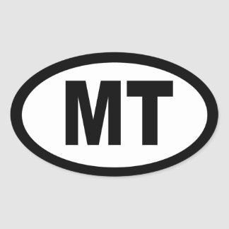 Montana - sheet of 4 oval car stickers