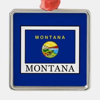 Montana Silver-Colored Square Decoration