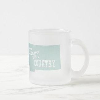 Montana Slogan Frosted Glass Mug