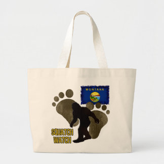 Montana Squatch Watch Large Tote Bag
