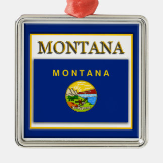 Montana State Flag Christmas Ornament