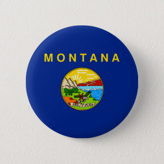 Montana State Flag Design 6 Cm Round Badge