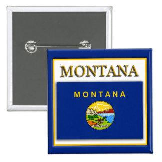 Montana State Flag Design Button