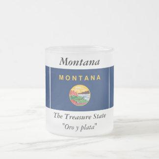 Montana State Flag Frosted Glass Mug