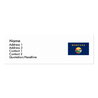 Montana State Flag Pack Of Skinny Business Cards