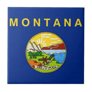 Montana State Flag Small Square Tile