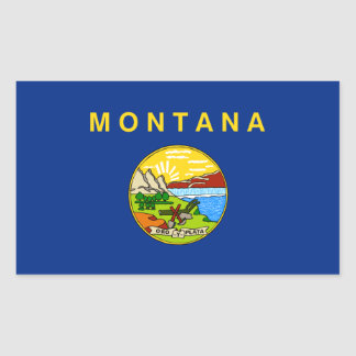 Montana State Flag, United States Rectangular Sticker