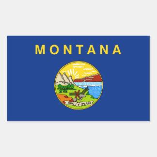 Montana state flag usa united america symbol rectangular sticker