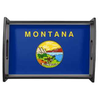 Montana state flag usa united america symbol serving tray