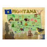Montana State Map Postcard