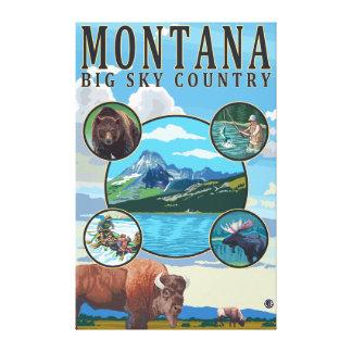 Montana State Scenes Canvas Print