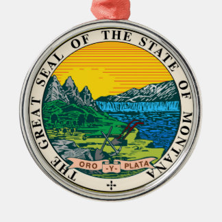 Montana state seal america republic symbol flag Silver-Colored round decoration