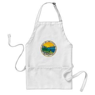Montana state seal america republic symbol flag standard apron