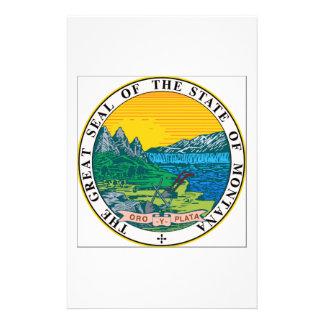 Montana State Seal Customized Stationery