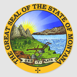 Montana State Seal Stickers