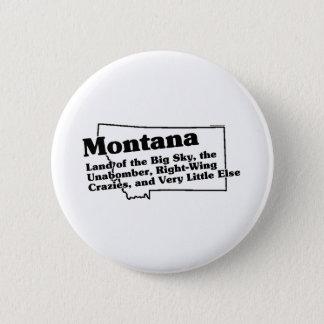 Montana State Slogan 6 Cm Round Badge