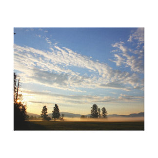 Montana sunrise gallery wrapped canvas