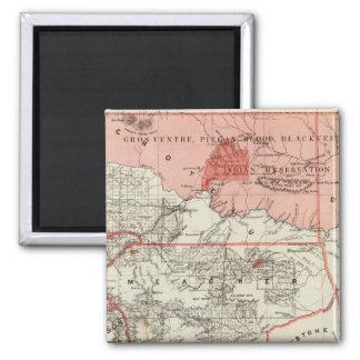 Montana Territory Square Magnet