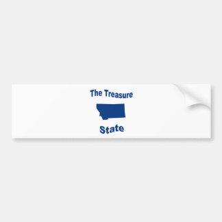 Montana The Treasure State Bumper Stickers