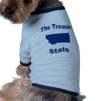 Montana The Treasure State Pet Tshirt