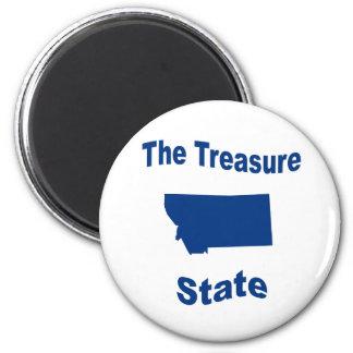 Montana The Treasure State Magnets