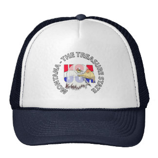 Montana The Treasure State USA Hat