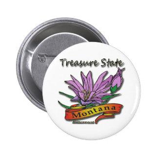Montana Treasure State Bitterroot 6 Cm Round Badge