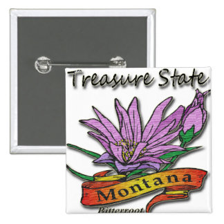 Montana Treasure State Bitterroot Buttons