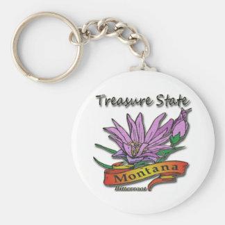 Montana Treasure State Bitterroot Keychain