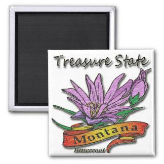 Montana Treasure State Bitterroot Fridge Magnet